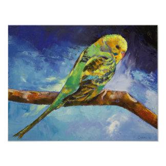 Invitación de la pintura del Parakeet