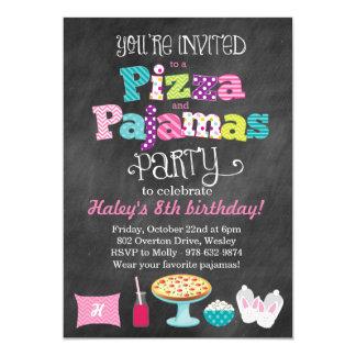 Invitación de la pizarra de la pizza y del fiesta