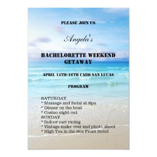 Invitación de la plantilla del fin de semana de