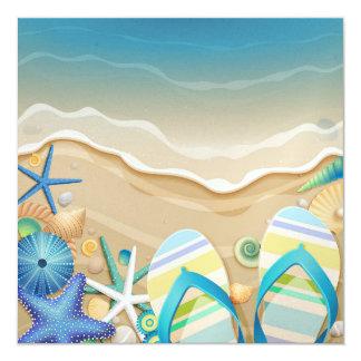 Invitación de la playa del paraíso