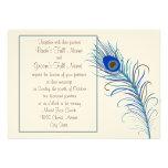 Invitación de la pluma 2 del pavo real