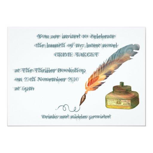 Invitación de la pluma de la pluma