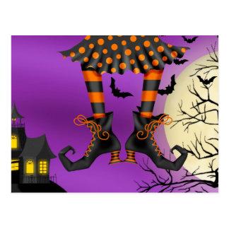 Invitación de la postal de Halloween (descenso