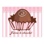 Invitación de la postal de J'aime Chocolat
