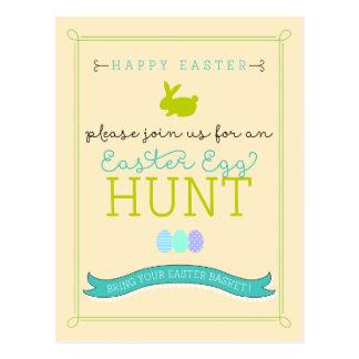 Invitación de la postal de la caza del huevo de Pa