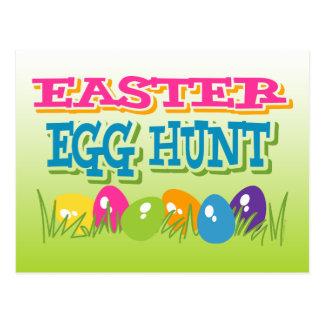 Invitación de la postal de la caza del huevo de