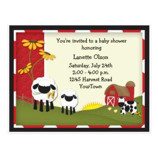 Invitación de la postal de la fiesta de bienvenida