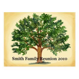 Invitación de la postal de la reunión de familia