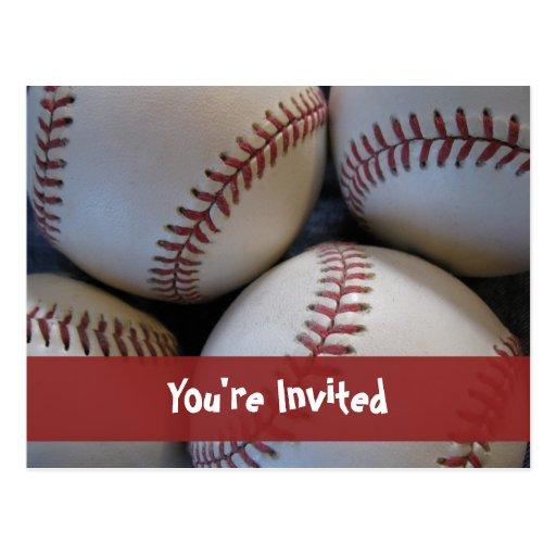 Invitación de la postal del béisbol