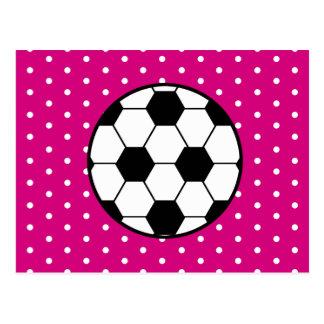 Invitación de la postal del cumpleaños del fútbol