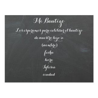 Invitación de la postal del MI Bautizo