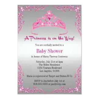 Invitación de la princesa fiesta de bienvenida al