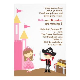 Invitación de la princesa y del pirata