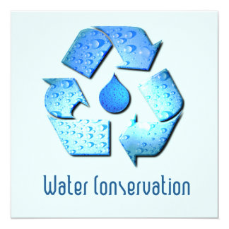 Invitación de la protección de agua