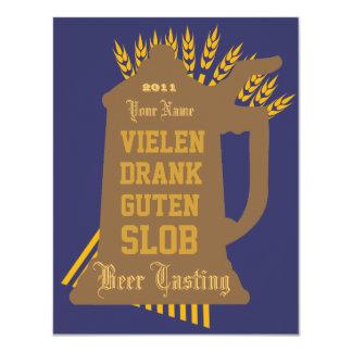 Invitación de la prueba de la cerveza invitación 10,8 x 13,9 cm