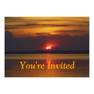 Invitación de la puesta del sol