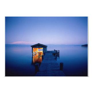 Invitación de la puesta del sol del lago Tahoe
