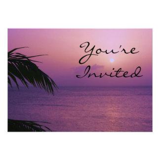 Invitación de la puesta del sol del paraíso