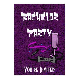 Invitación de la púrpura del fiesta de macho del