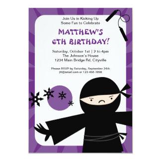 Invitación de la púrpura del poder de Ninja