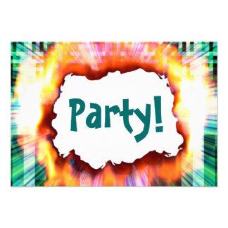Invitación de la ráfaga del fiesta