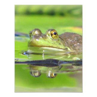Invitación de la rana verde