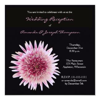 Invitación de la recepción nupcial solamente invitación 13,3 cm x 13,3cm