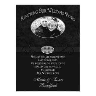 Invitación de la renovación de los votos de boda