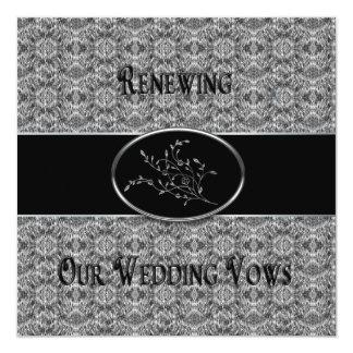 Invitación de la renovación de los votos de boda -