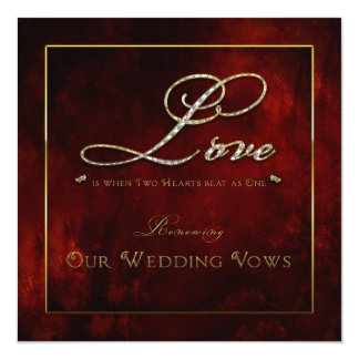 Invitación de la renovación del boda - amor - dos