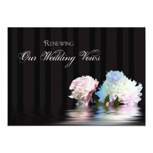 Invitación de la renovación del boda - Peonies