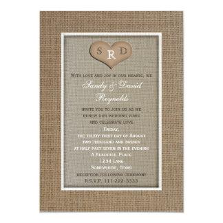 Invitación de la renovación del voto de boda - invitación 12,7 x 17,8 cm