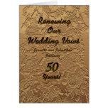 Invitación de la renovación del voto de boda 50 añ felicitación