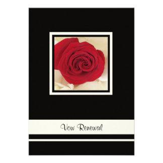 Invitación de la renovación del voto del rosa rojo