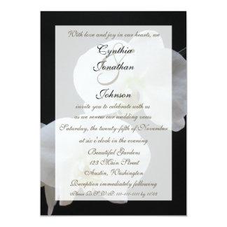 Invitación de la renovación del voto -- Orquídeas Invitación 12,7 X 17,8 Cm