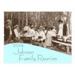 Invitación de la reunión de familia de la comida c postales