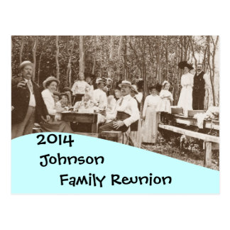 Invitación de la reunión de familia de la comida tarjetas postales