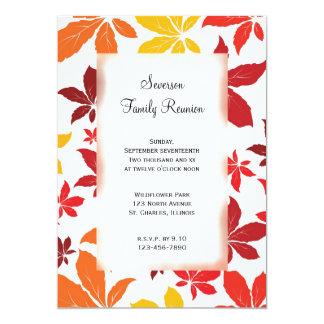 Invitación de la reunión de familia de las hojas