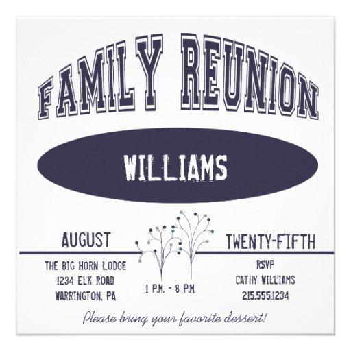 Invitación de la reunión de familia del equipo uni
