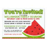 Invitación de la reunión de familia del verano invitación 12,7 x 17,8 cm
