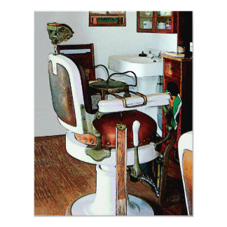Invitación de la silla de peluquero invitación 10,8 x 13,9 cm