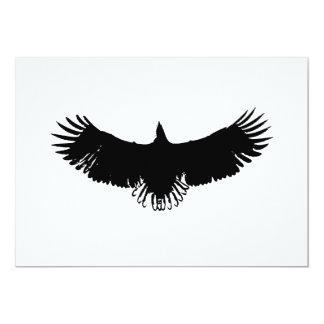 Invitación de la silueta de Eagle del vuelo