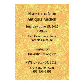 Invitación de la subasta de las antigüedades