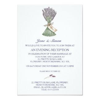 Invitación de la tarde del boda del jardín del
