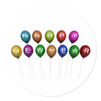 Invitación de la tarjeta de la Feliz Año Nuevo
