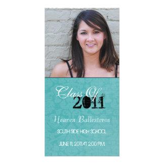 Invitación de la tarjeta de la foto de la graduaci tarjeta con foto personalizada