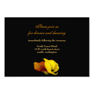 Invitación de la tarjeta de la recepción nupcial invitación 8,9 x 12,7 cm