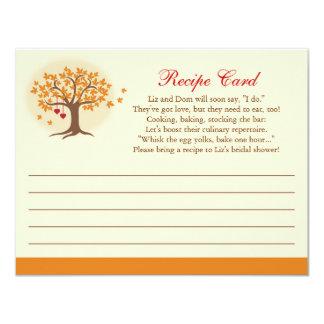 Invitación de la tarjeta de la receta del árbol de