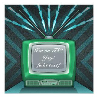 Invitación de la tarjeta de la TV