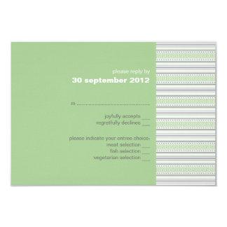 Invitación de la tarjeta de RSVP del pistacho de